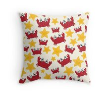 Crabs and Starfish Throw Pillow
