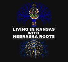 LIVING IN KANSAS WITH NEBRASKA ROOTS Unisex T-Shirt