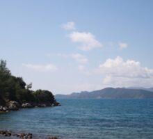 Turquoise Sea and Blue Skies of Hisaronu, Bozburun Sticker