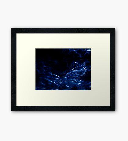 Matrix Blue Framed Print