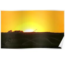 Mellow Yellow Sunrise Poster