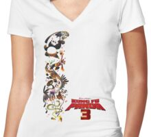 kung fu panda 3 movie Women's Fitted V-Neck T-Shirt
