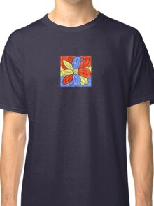 Flower Red Yellow Blue Classic T-Shirt