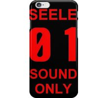 EVANGELION SEELE 01 SOUND ONLY Graphic iPhone Case/Skin