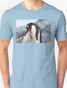 "Gentoo Penguin and Chick ~ ""Meals Home Delivered"" Unisex T-Shirt"