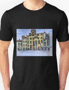 Piazza Anfiteatro Lucca 2015 pen and wash T-Shirt