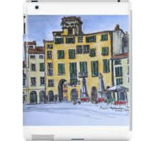 Piazza Anfiteatro Lucca 2015 pen and wash iPad Case/Skin