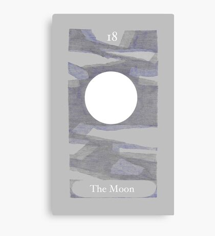 The Moon from The BirdQueen Tarot Canvas Print