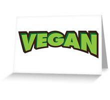 Vegan Logo Greeting Card