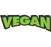Vegan Logo Photographic Print