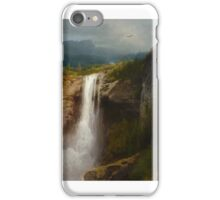 HERMANN HERZOG  Crystal Cascade, Yellowstone National  Park iPhone Case/Skin