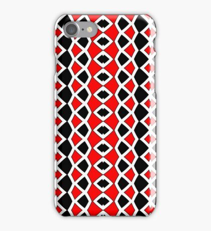 Decorative Red Black and White Pattern iPhone Case/Skin