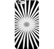 Starburst Black and White Pattern iPhone Case/Skin