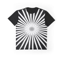 Starburst Black and White Pattern Graphic T-Shirt