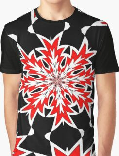 Bizarre Red Black and White Pattern 2 Graphic T-Shirt