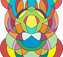 Colorful Abstract Curve Geometry - Scales  by colortrix