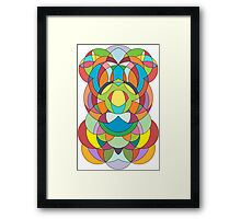 Colorful Abstract Curve Geometry - Scales  Framed Print