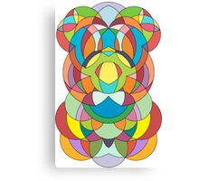 Colorful Abstract Curve Geometry - Scales  Canvas Print