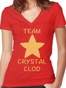 team crystal clod Women's Fitted V-Neck T-Shirt