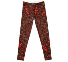 Pattern Abstract In Primary Colors Leggings