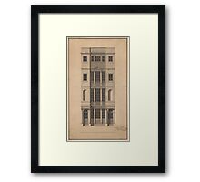 Robert Adam  British Coffee House - Pen and black ink, with gray wash, on paper. Framed Print