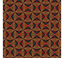 Red, Green And Gold Repeating Pattern Photographic Print