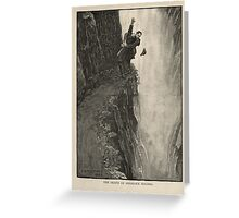 Sherlock Holmes and Professor Moriarty at the Reichenbach Falls Greeting Card