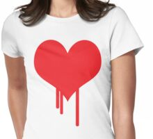 Bleeding Heart Womens Fitted T-Shirt