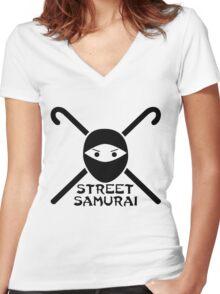 STREET SAMURAI Women's Fitted V-Neck T-Shirt