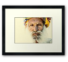 Rajasthan Elderly Man Framed Print