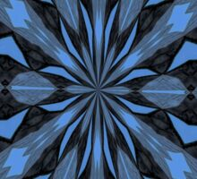 Blue Steel and Black Fragmented Kaleidoscope Sticker