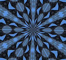 Blue Steel and Black Fragmented Kaleidoscope by taiche