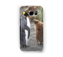 King Penguin and chick ~ Meal Time Samsung Galaxy Case/Skin