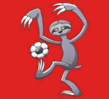 Cool Sloth Playing with a Soccer Ball by Zoo-co
