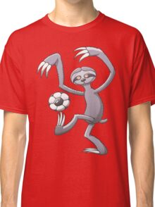 Cool Sloth Playing with a Soccer Ball Classic T-Shirt