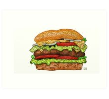 hamburger art Art Print