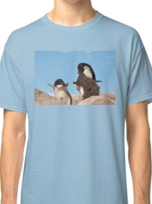"""Adelie Penguin and chicks ~ """"and WHEN do I get fed!!"""" Classic T-Shirt"""