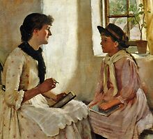 William Maw Egley - The Morning Lesson  by Adam Asar