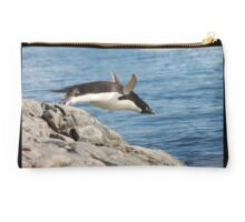 "Adelie Penguin ~ ""I Can Fly"" Studio Pouch"