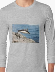 """Adelie Penguin ~ """"I Can Fly"""" Long Sleeve T-Shirt"""