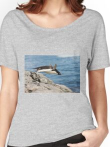 """Adelie Penguin ~ """"I Can Fly"""" Women's Relaxed Fit T-Shirt"""