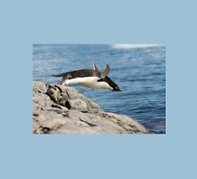 "Adelie Penguin ~ ""I Can Fly"" Womens Fitted T-Shirt"
