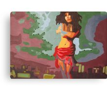 Lonely woman Canvas Print