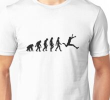 The evolution of long jump Unisex T-Shirt