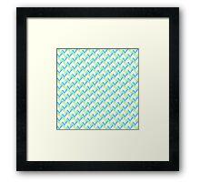 Knitted Pattern Framed Print