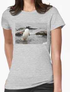 "Gentoo Penguin ~ ""Gawd it's Cold"" Womens Fitted T-Shirt"