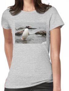 """Gentoo Penguin ~ """"Gawd it's Cold"""" Womens Fitted T-Shirt"""