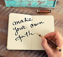 Motivational concept with handwritten text MAKE YOUR OWN PATH by Stanciuc