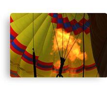 Looking up at a Flaming Hot Air Balloon Canvas Print