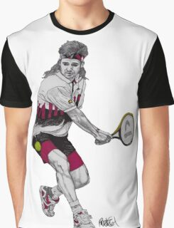 Tennis Agassi Graphic T-Shirt
